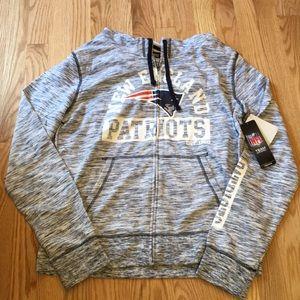 New England Patriots hooded sweatshirt NWT